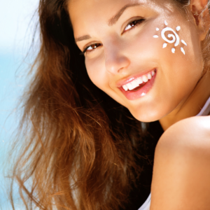 SPF skincare specialists - woman wearing SPF - Radiance Aesthetic Clinic Exeter